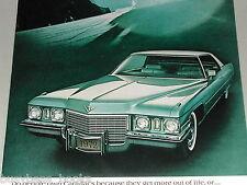 1972 CADILLAC De VILLE advertisement page, Cadillac Coupe de Ville