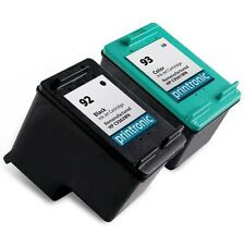 2 Recycled HP 92 93 Ink Cartridge C9362WN C9361WN PhotoSmart C3100 C3183 Printer