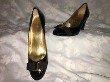 Nine West Women's Shoes Dress Emerylr Black Patent Leather SZ 6 1/2