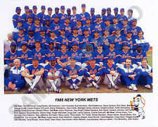 1986 NEW YORK METS WORLD SERIES CHAMPIONS BASEBALL 8x10 TEAM PHOTO