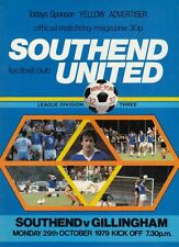 Southend United V Gillingham   1979 , Football League Division 3 match Programme