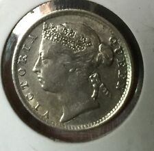 1894 10 cents Q.V silver coin  very  high grade!
