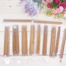 1 Set 55Pcs 11sizes 5'' 13cm Double Pointed Carbonized Bamboo Knitting Needles