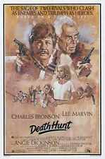 Death Hunt Poster 01 A3 Box Canvas Print
