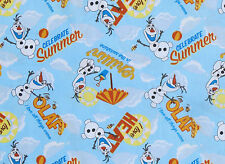 "6"" REMNANT  OLAF CHILLIN IN THE SUNSHINE DISNEY FROZEN FABRIC FOREVER COTTON"