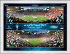 2012 Champions League Final Framed Panoramic Montage Photographic Print
