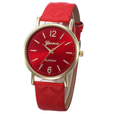 Geneva Women's Stainless Steel Crystal Analog Leather Quartz Wrist Watches A8