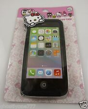 For Iphone 5 5S  phone case Hello Kitty  40 th anniversary peeking over front