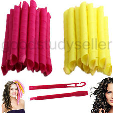 24Pcs/Set DIY Nature Hair Roller Curlers Magic Circle Twist Spiral Styling Tools