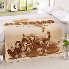 "Anime Hetalia Axis Powers Warm Coral Fleece Warm Plush Throw Blanket Rug 55""X39"""