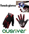 New Cycling Racing Ski Bicycle Touch Screen Full Finger Gloves Bike Road Black
