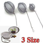 New Stainless Steel Infuser Strainer Mesh Tea Filter Spoon Locking Spice Ball