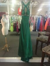 Jazz Couture Size 0 Emerald Prom Pageant Dress