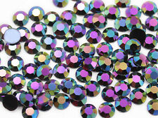 11mm SS48  Jet Black AB H401 Acrylic Rhinestones High Quality - 60 PCS