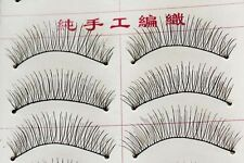Women Beauty 10 Pairs Transparent Stem Natural Makeup False Eye Lash Eyelashes