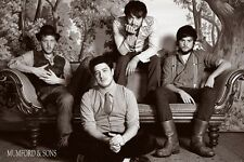"MUMFORD AND SONS  POSTER ""BRAND NEW"" 61cm X 91.5cm ""MARCUS MUMFORD, LOVETTE, TED"