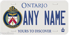 Ontario Toronto Police Any Name Personalized Novelty Auto License Plate