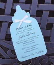 Baby Bottle Baby Shower Invitation - Choice of card Stock Color