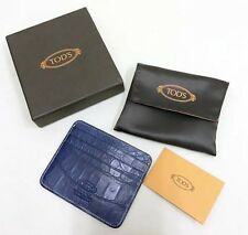 TOD'S KREDITKARTEN ETUI / CREDIT CARD CASE REAL ALLIGATOR LTD. EDIT. NO18 RARE!