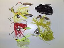 6 Fishing Lures Casting Trolling Tackle Box Find Spinner Lot Spinnerbait Pike
