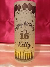 10 Personalized Birthday Candles Luminaries Table Centerpieces Party Decorations