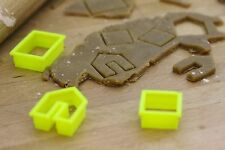 Mini Gingerbread House Cookie Cutter (Medium size separate pieces)