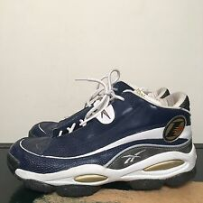 REEBOK ANSWER 1 OG 1997 NAVY BLUE PATENT LEATHER SIZE 12 ALLEN IVERSON QUESTION