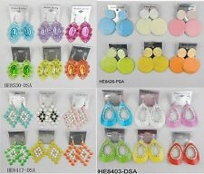A-09 Wholesale Jewelry lots 10 pairs Mixed Style Colorful Drop Fashion Earrings