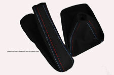 FITS BMW E90 E91 E92 E93 3 Series 2005-2013 SUEDE GEAR HANDBRAKE GAITER M STITCH