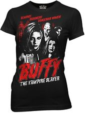 Buffy The Vampire Slayer Character Collage Junior Babydoll Style Shirt, UNWORN