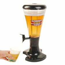 3L Cold Draft Beer Tower Dispenser Plastic with LED Lights New