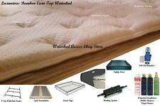 SOFTSIDE WATERBED in King Size with the Most Comfortable Bamboo Euro Top Cover