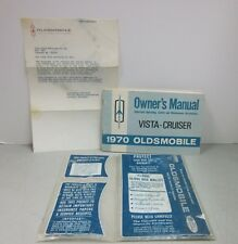 1970 Oldsmobile Vista Cruiser Owner's Manual w/Letter to Coca Cola Bottling Co.