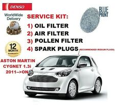 FOR ASTON MARTIN CYGNET 1.3 2011-  OIL AIR POLLEN FILTER SPARK PLUGS SERVICE KIT