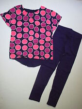 Gymboree Fairy Tale Forest Girls 7 8 Purple Dot Tunic Top & Leggings Set NEW NWT