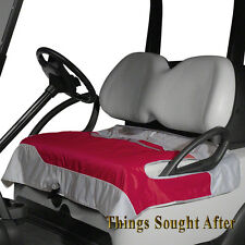 PINK & GRAY SEAT BLANKET for GOLF CAR Quilted Fleece Cart Bench Leg Lap Cover