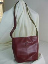 Mondani Shoulder Handbag Satchel Purse Burgundy Faux Leather Messenger Bag