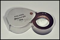 Economy Jewellers Loupe Eyeglass 10x Pocket Magnifier Watchmakers Hallmark Lens