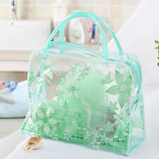 Hot Transparent Waterproof PVC Flower Makeup Toiletry Travel Wash Cosmetic Bag S