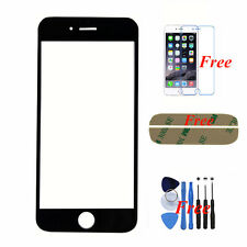 "Black Replacement Front Outer Screen Glass Lens Cover For Apple 4.7"" iPhone 6"