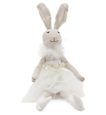 """Bella Lux Easter Bunny Ballerina Doll Shelf Sitter Decor Feather Lace 23"""" NEW"""