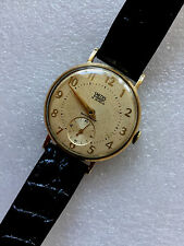 9CT GOLD 1950,s GENTS SMITHS EVEREST A CLASSIC WRISTWATCH c/w ORIG BOX