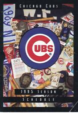 1995 Chicago Cubs Schedule With GAMES That NEVER Were Played STRIKE !!! RARE