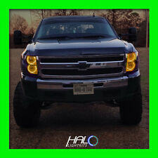 2007-2013 Chevy Silverado Yellow LED Headlight Round V1 Halo Ring Kit by Oracle