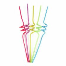 Pack of 5 Curly Wurly Drinking Straws, NEW