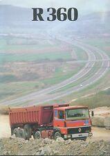 Renault R 360 Prospekt NL 11 81 brochure LKWs Lastwagen truck broschyr 1981 Lkw