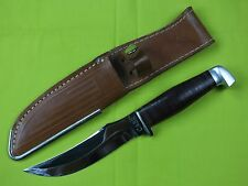 """CASE HUNTING FISHING FIXED BLADE KNIFE WITH LEATHER SHEATH 9 1/4"""" OVERALL"""