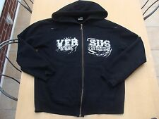 Versus The Night Vintage Black Zip Up Hoodie Size S Metal Hardcore