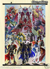 Wall Scroll Poster digimon adventure alphamon omegamon home decor 40X60CM
