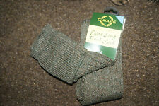 WOOL MIX GREY TWEED EXTRA LONG BREEK WELLY SOCKS SHOOTING STOCKINGS - Large